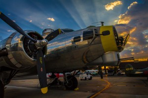 B 17 at Sunrise