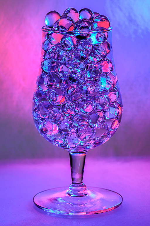 Liquid Marbles In Glass