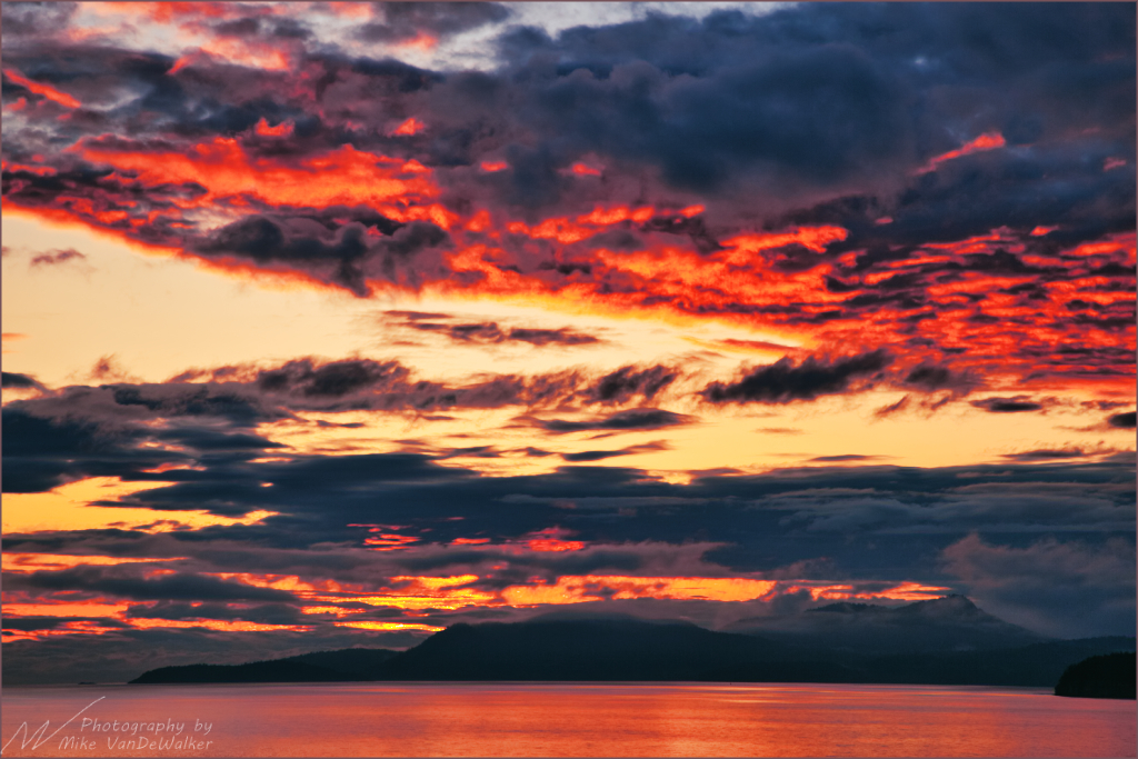Fire In The Sky  Inside Passage off Vancouver Island